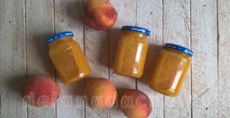 Пюре из персиков на зиму для ребенка